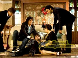 Movie Still From The Film Daddy Cool Featuring Ashish Chowdhry,Chunky Pey