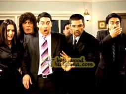 Movie Still From The Film Daddy Cool Featuring Tulip Joshi,Chunky Pey,Aftab Shiv,Sunil Shetty,Rajpal Yadav