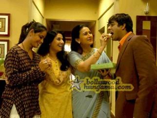 Movie Still From The Film 13B Featuring Neetu Chra,Poonam Dhillion,Madhavan