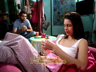 Movie Still From The Film Dev D Featuring Abhay Deol,Kalki Kocchlin