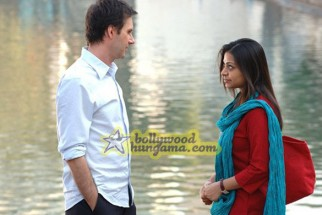 Movie Still From The Film Outsourced Featuring Ayesha Dharker,Josh Hamilton