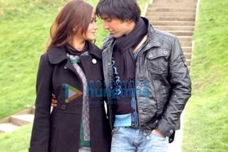 Movie Still From The Film Threeloveliesbetrayal Featuring Ashish Chowdhry,Nausheen Ali Sardar