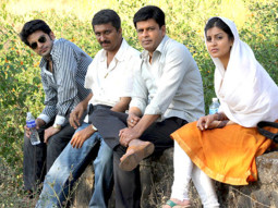 On The Sets Of The Film Dus Tola Featuring Manoj Bajpayee,Aarti Chhabria,Siddharth Makkar,Pallavi Sharda,Govind Namdeo,Asrani,Dilip Prabhawalkar,Ninad Kamat,Asif Basra,Bharti Achrekar,Brijendra Kala,Kunwar Pragy Arya,Kishore Nandlaskar,Suhita Thatte,Shiju