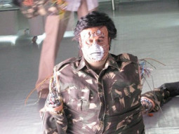 On The Sets Of The Film Enthiram Featuring Rajinikanth,Aishwarya Rai