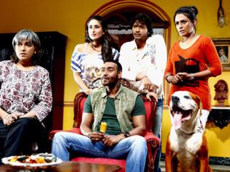 Movie Still From The Film Golmaal 3,Ratna Pathak,Ajay Devgn,Kareena Kapoor,Shreyas Talpade