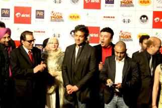 Photo Of Sunny Deol,Dharmendra,Nafisa Ali,Bobby Deol,Anu Malik,Samir Karnik,Anupam Kher From The Dharmendra, Sunny and Bobby celebrate lohri