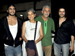 Photo Of Prateik Babbar,Ratna Pathak,Naseruddin Shah,Faruk Kabir From The Naseruddin Shah and Prateik Babbar watch 'Allah Ke Banday'