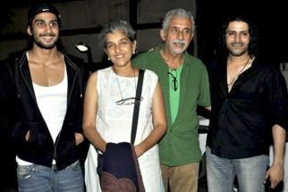 Photo Of Prateik Babbar,Ratna Pathak,Naseruddin Shah,Faruk Kabir From The Naseruddin Shah and Prateik Babbar watch 'Allah Ke Banday'