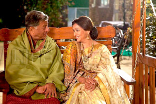 Movie Still From The Film Life Goes On,Girish Karnad,Sharmila Tagore