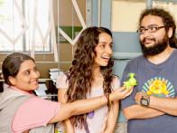 On The Sets Of The Film Luv Ka The End Featuring Shraddha Kapoor,Taaha Shah,Shenaz Treasuryvala,Jannat Zubair Rahmani,Ali Zafar