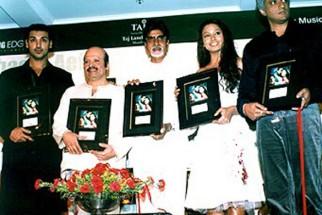 Photo Of John Abraham,Rajesh Roshan,Amitabh Bachchan,Bipasha Basu,Vikram Bhatt From The Audio Release Of Aetbaar