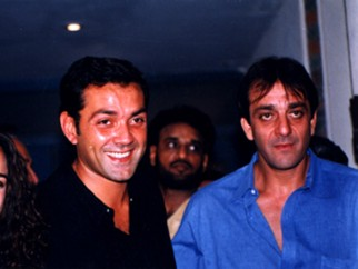 Photo Of Preity Zinta,Bobby Deol,Sanjay Dutt From The Audio Release Of Chori Chori Chupke Chupke