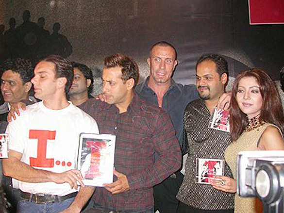 Photo Of Dabbo Malik,Sohail Khan,Salman Khan,Tim Lawrence,Puneet Sira,Heena Tasleem From The Audio Release Of 'I - Proud To Be An Indian'