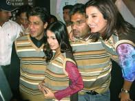 Photo Of Shahrukh Khan,Amrita Rao,Suniel Shetty,Farah Khan From The Audio Release Of Main Hoon Na