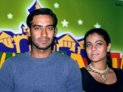 Photo Of Ajay Devgn,Kajol From The Audio Release Of Raju Chacha