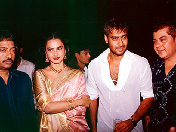 Photo Of Ram Gopal Varma,Rekha,Ajay Devgn,Nitin Manmohan From The Bhoot Party