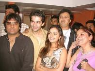 Photo Of Rakesh Bapat,Richa Pallod From The Completion Party Of Kaun Hai Jo Sapno Mein Aaya