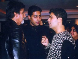 Photo Of Amitabh Bachchan,Abhishek Bachchan,Karan Johar From The Kaante Movie Completion Party