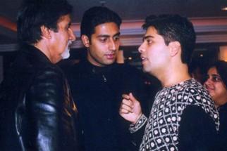 Photo Of Amitabh Bachchan,Abhishek Bachchan,Karan Johar From The Kaante Movie Completion Party