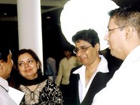 Photo Of Puja Bhagnani,Vashu Bhagnani,Taran Adarsh From The Launch Of Vaada