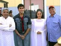 Photo Of Javed Akhtar,Arya Babbar,Gracy Singh From The Mahurat Of Dil Humko Dijiye