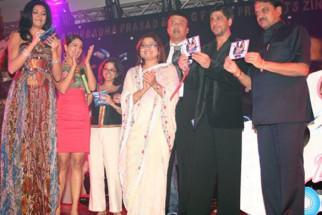 Photo Of Shiny Ahuja,Sushmita Sen,Kim Sharma,Tanuja Chandra,Anuradha Prasad,Anu Malik,Shahrukh Khan,Vilasrao Deshmukh From The Audio Launch Of Zindaggi Rocks