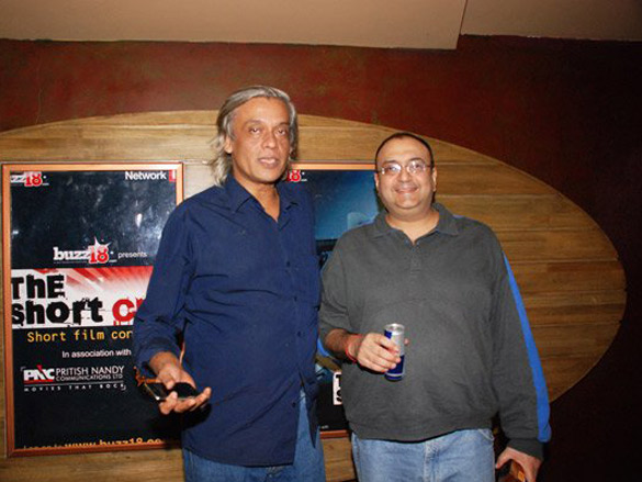 Photo Of Sudhir Mishra,Vivek Vasvani From The Buzz 18's Short Film Contest