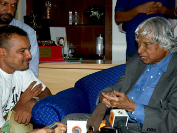Photo Of Nila Madhab Panda,Dr A P J Abdul Kalam From The I Am Kalam's Harsh Mayar meets Abdul Kalam