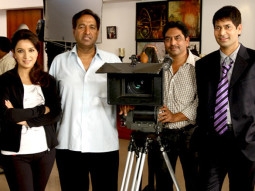 On The Sets Of The Film Khushiyaan Featuring Jasbir Jassi,Tisca Chopra,Kulbhushan Kharbanda,Rama Vij,Deep Dhillon,Vivek Shauq,Tirlok Malik,Gurpreet Guggi,Vipin Sharma,Gurpreet Singh,Sudhir Kumar,Sardool Sikander,Ankita Shorey