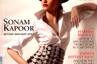 Sonam Kapoor On The Cover Of The Man,Aug 2011