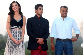 Photo Of Amy Jackson,Prateik Babbar,Gautham Menon From The Audio release of 'Ekk Deewana Tha' at Taj Mahal Agra