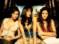 Movie Still From The Film Boom Featuring Padma Lakshmi,Madhu Sapre,Katrina Kaif