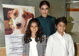Raveena Tandon grace IDA's charity fundraiser with daughter and son