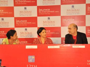 Photo Of Uma da Cunha,Konstnz Welz,Dev Benegal From The Open Forum taking place at 12th Mumbai Film Festival