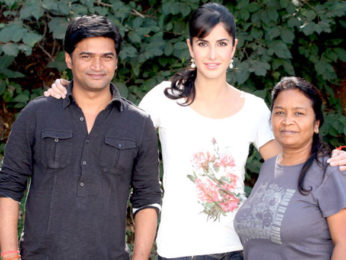 Photo Of Nandan Mohato,Katrina Kaif,Pomila Hunter From The Katrina Kaif shoots for 'Main Krishna Hoon' at Filmcity