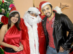 Photo Of Maddalsa Sharma,Ganesh Acharya,Nilesh Sahay From The Ganesh Acharya turns Santa to promote his film 'Angel'
