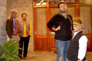 On The Sets Of The Film Satrangee Parachute Featuring Jackie Shroff,Kay Kay Menon,Zakir Hussain,Rajpal Yadav,Sanjay Mishra,Rupali Ganguly,Lilliput,Siddhartha Sanghani,Rajvi Suchak
