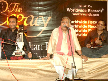 Photo Of Sabir Khan,Ustad Sultan Khan,Deepak Pandit From The Zakir Hussain launches 'The Legacy' album by Ustad Sultan Khan and Sabir Khan