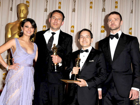 Photo Of Mila Kunis,Andrew Ruhemann,Shaun Tan,Justin Timberlake From The 83rd Annual Academy Awards 2011