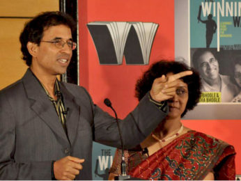 Photo Of Harsha Bhogle From The MS Dhoni and other cricketers at Harsha Bhogle's book launch