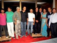 Photo Of Aditya Lakhia,Akhilendra Mishra,Rajesh Vivek,Ashutosh Gowariker,Aamir Khan,Pradeep Rawat,Javed Khan From The Aamir Khan Productions celebrates 10th anniversary