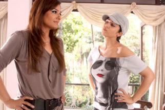 Movie Still From The Film Bbuddah...Hoga Terra Baap,Raveena Tandon,Charmi