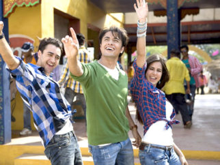 Movie Still From The Film Mere Brother Ki Dulhan,Imran Khan,Ali Zafar,Katrina Kaif