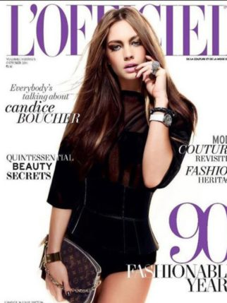 Candice Boucher On The Cover Of L'Officiel,Oct 2011
