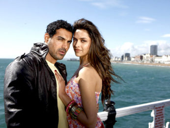 Movie Still From The Film Desi Boyz,John Abraham,Deepika Padukone