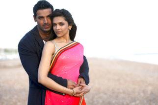 Movie Still From The Film Desi Boyz,John Abraham,Deepika Padukone