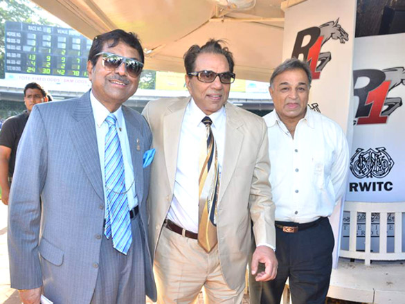 Photo Of Dharmendra,Gurbachan From The Dharmendra and Sameera Reddy snapped at the Race course