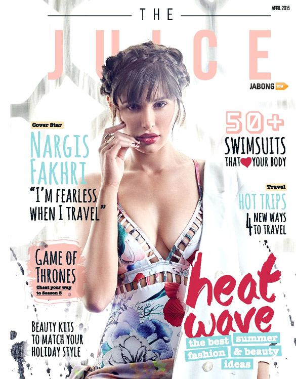 Nargis Fakhri On The Cover Of Juice,Apr 2015