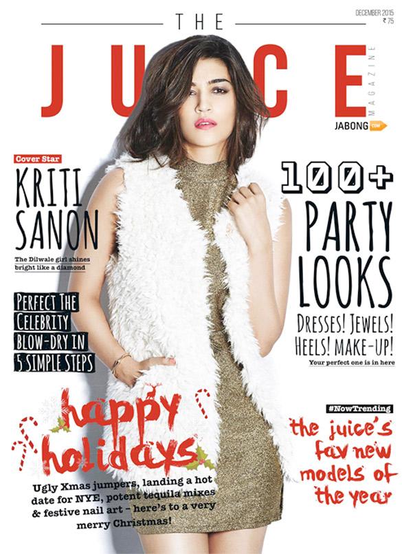 Kriti Sanon On The Cover Of The Juice,Dec 2015