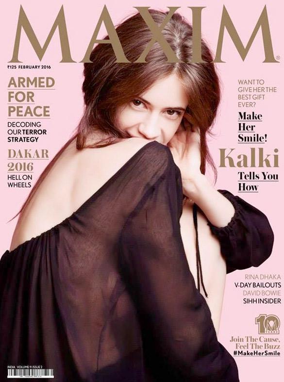 Kalki Koechlin On The Cover Of Maxim,Feb 2016